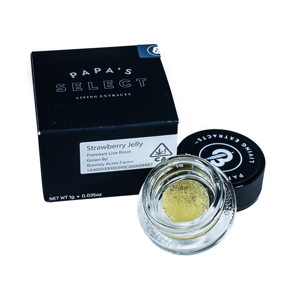Strawberry Jelly Premium Live Rosin by Papa's Select