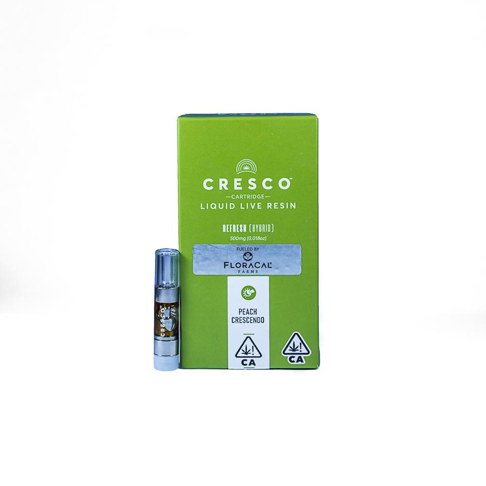 "Cresco x Floracal Peach Crescendo - Liquid Live Resin by SLO Cultivation Inc. dba Cresco Labs, a:1:{i:0;s:14:""Floracal Farms"";}"