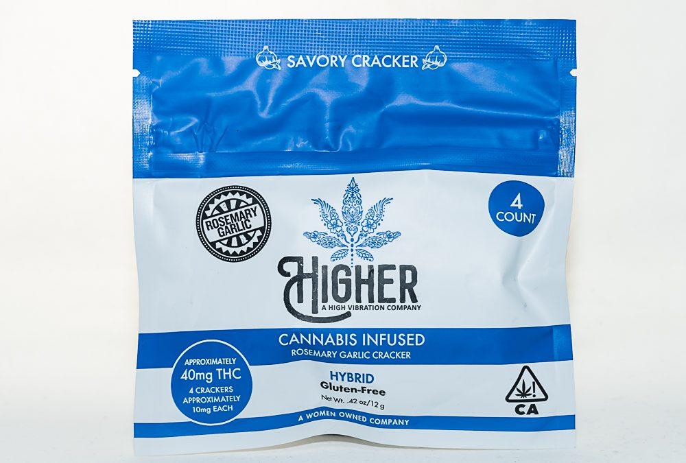 GF Rosemary Garlic Crackers 100mg Hybrid - 4 Pack by Higher Edibles